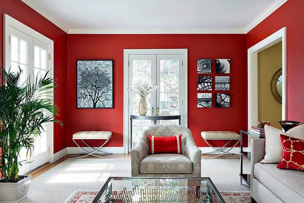 Red Living Room Brian Hommel